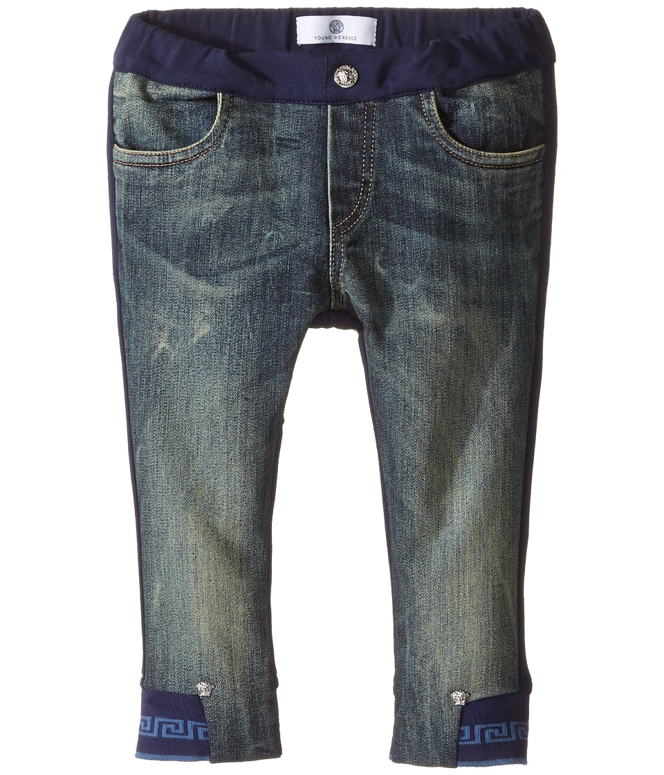Versace Kids - Denim and Sweatpants Mixed Fabrics (Infant/Toddler) (Denim Blue) Boy's Casual Pants