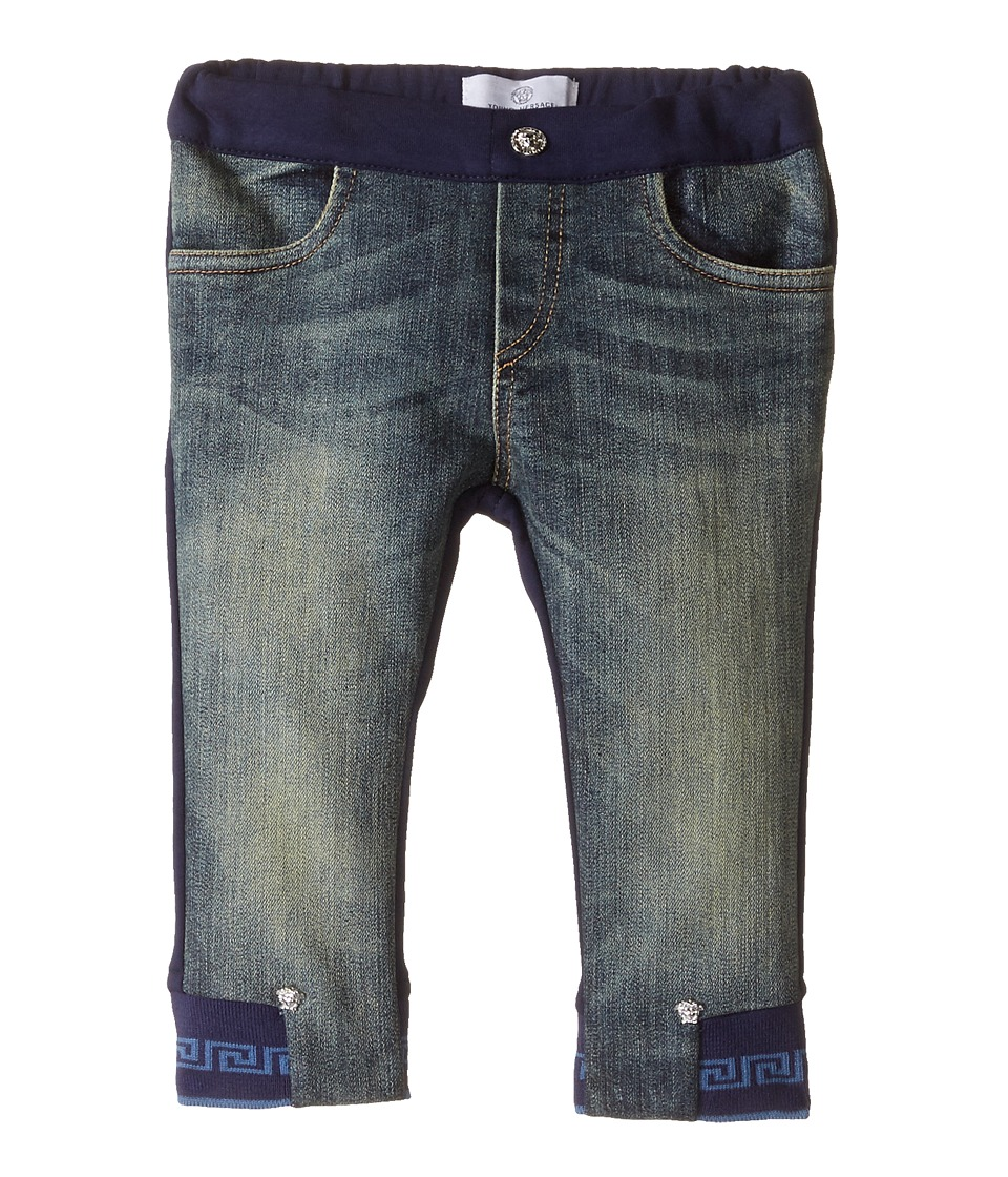 Versace Kids - Denim and Sweatpants Mixed Fabrics (Infant) (Denim Blue) Boy's Casual Pants