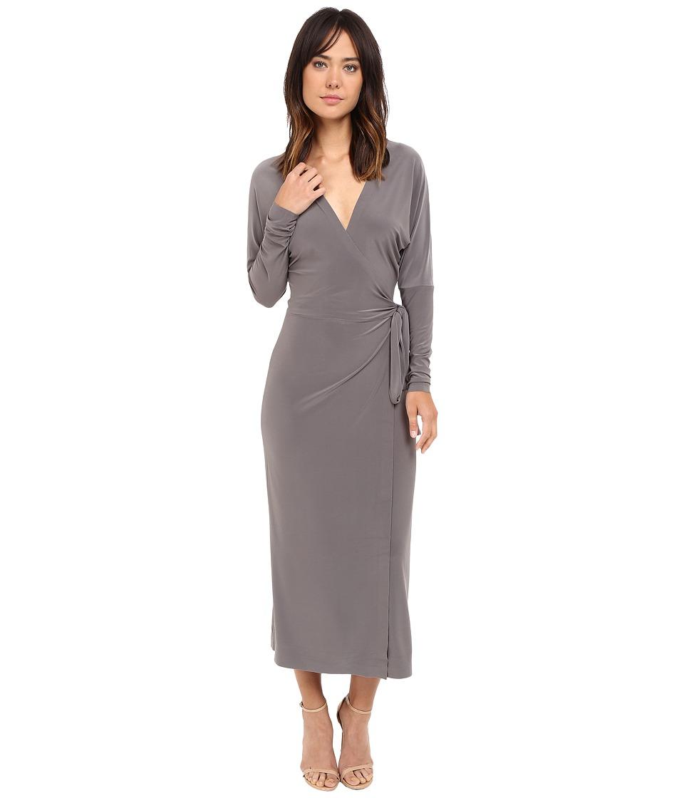 KAMALIKULTURE by Norma Kamali - Dolman Wrap Dress (Slate) Women's Dress