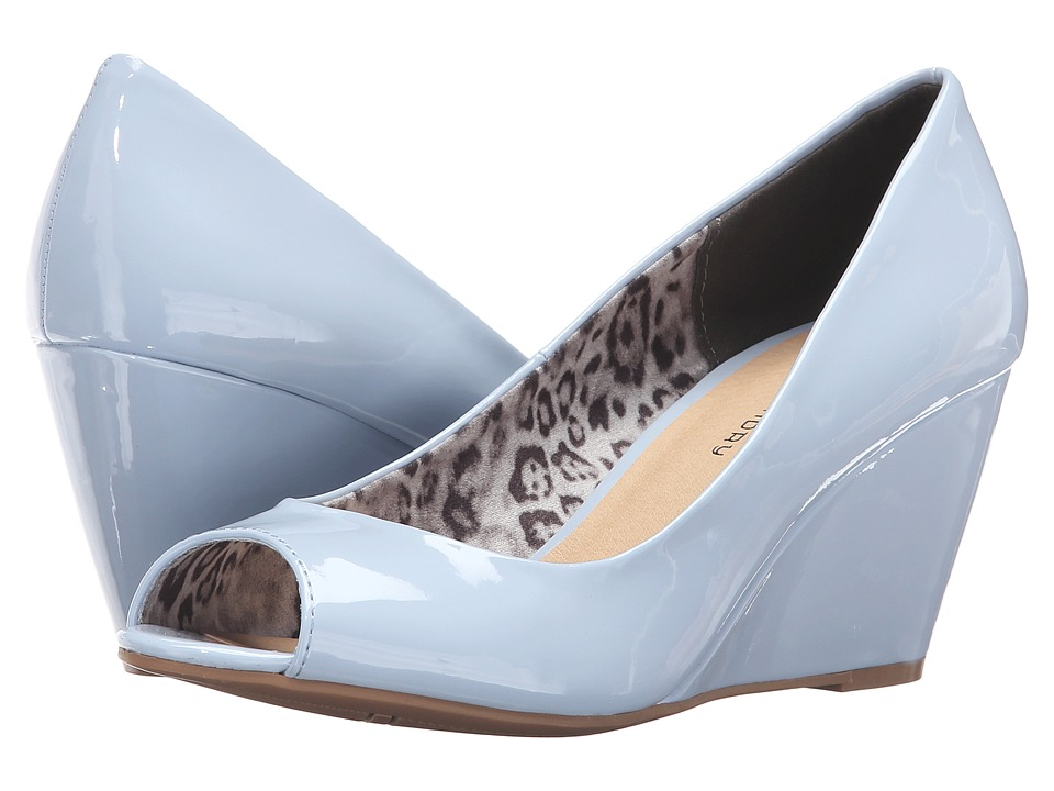 CL By Laundry - Nichelle (Blue Patent) Women's Wedge Shoes