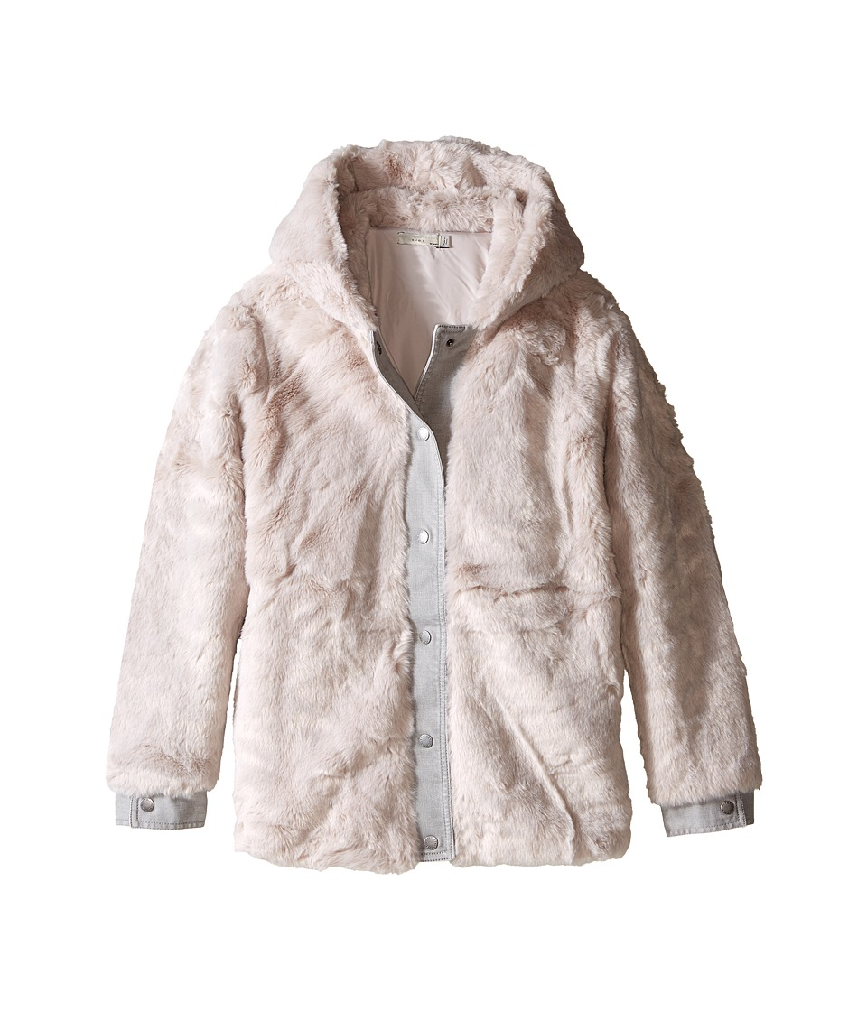 Stella McCartney Kids - Treasure Faux Fur Hooded Jacket (Toddler/Little Kids/Big Kids) (Lilac) Girl's Coat