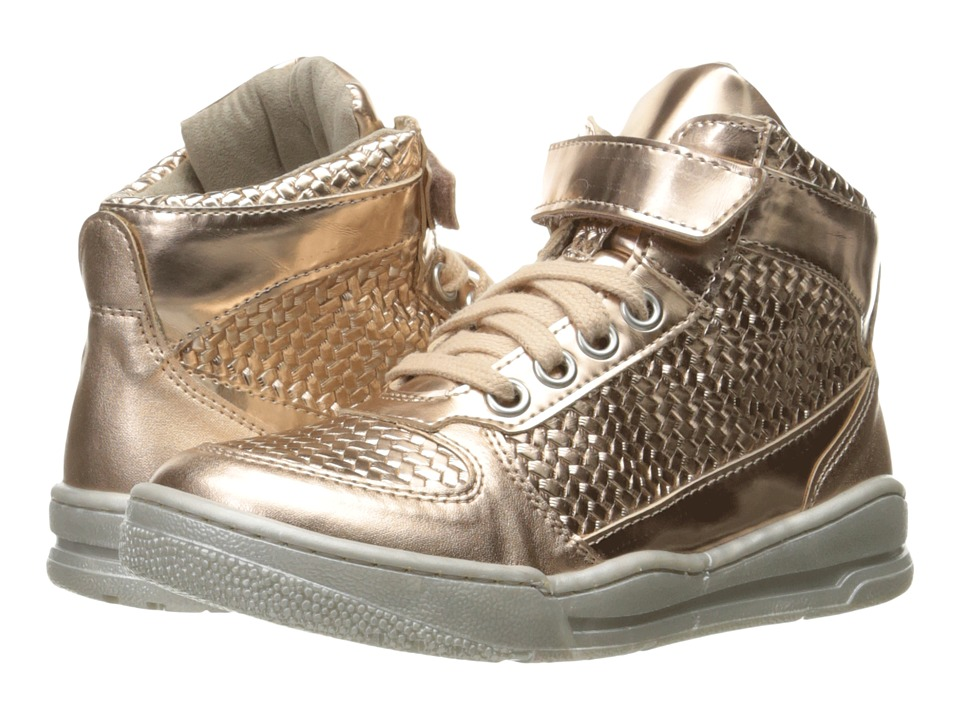 Stella McCartney Kids - Darby Metallic Lace-Up Hi-Top Sneakers (Toddler/Little Kid/Big Kid) (Peony) Girls Shoes
