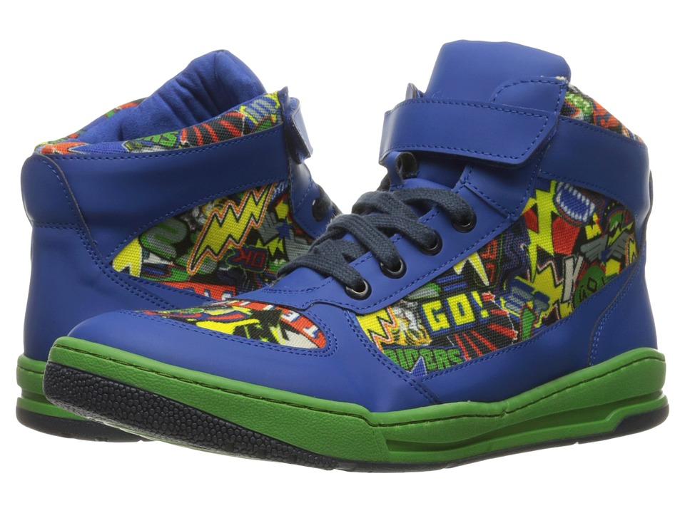 Stella McCartney Kids - Darby Hi-Top Graphic Lace-Up Sneakers (Toddler/Little Kid/Big Kid) (Blue) Boys Shoes
