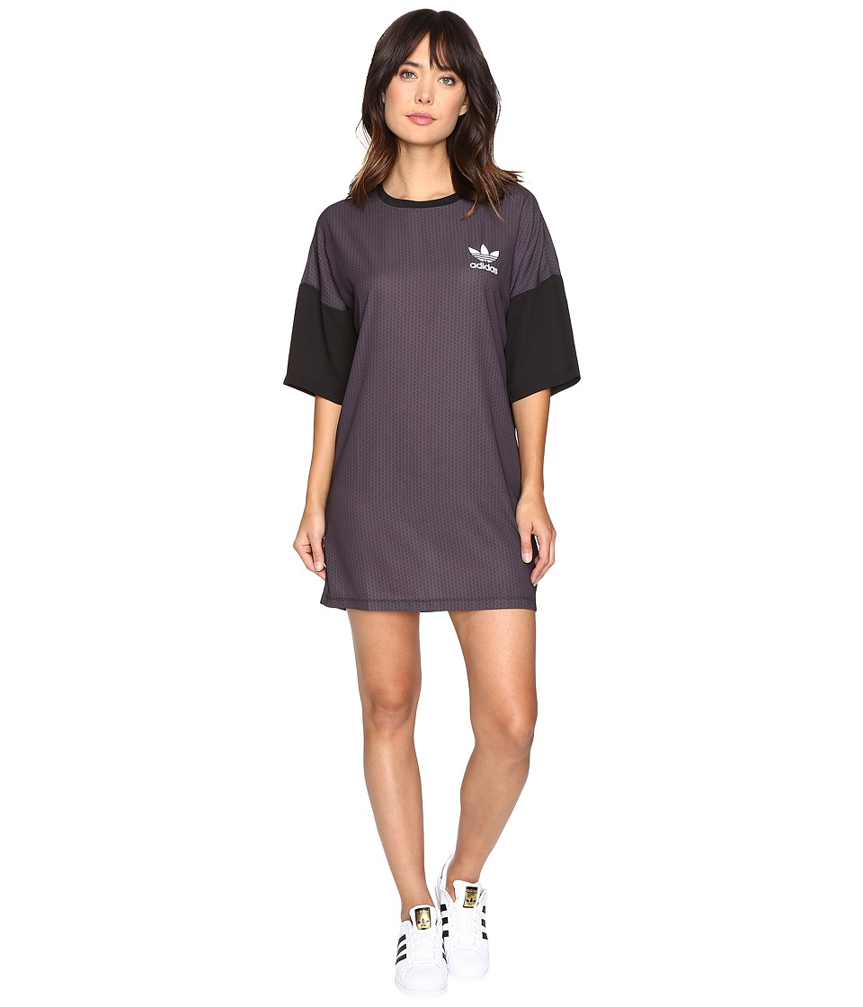 adidas Originals - AOP Tee Dress (Shadow Black) Women's Dress