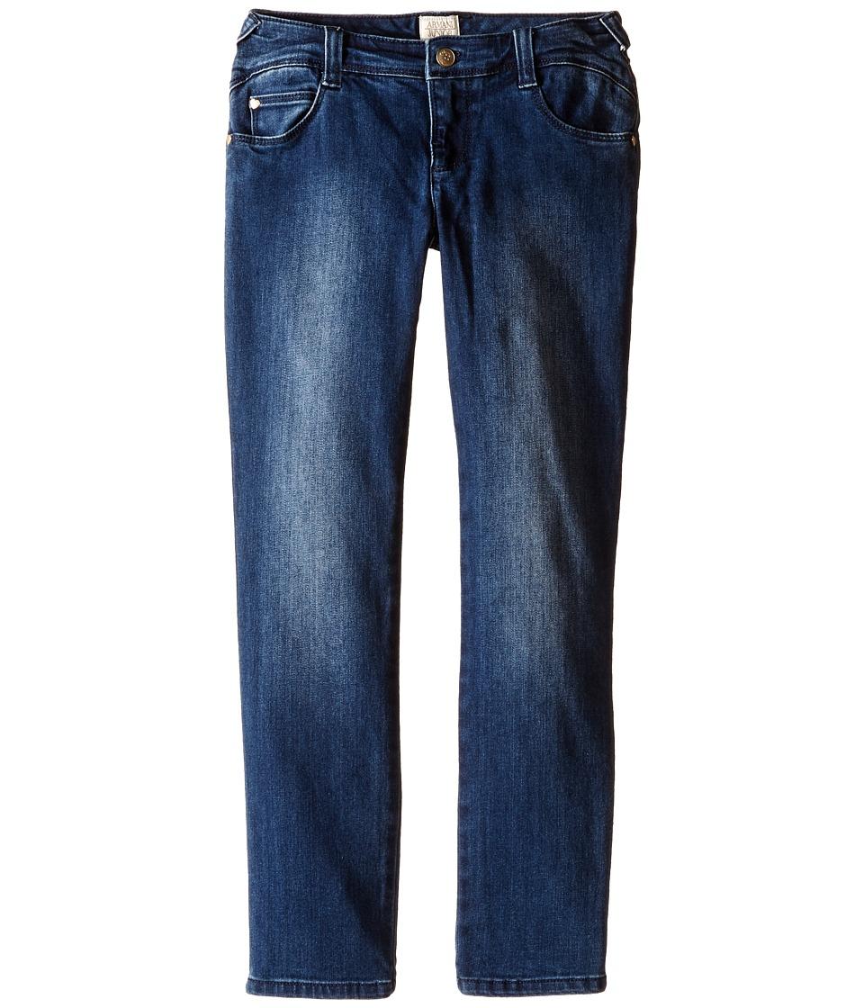 Armani Junior - Slim Fit Tonal Denim in Denim Indaco (Toddler/Little Kids/Big Kids) (Denim Indaco) Girl's Jeans