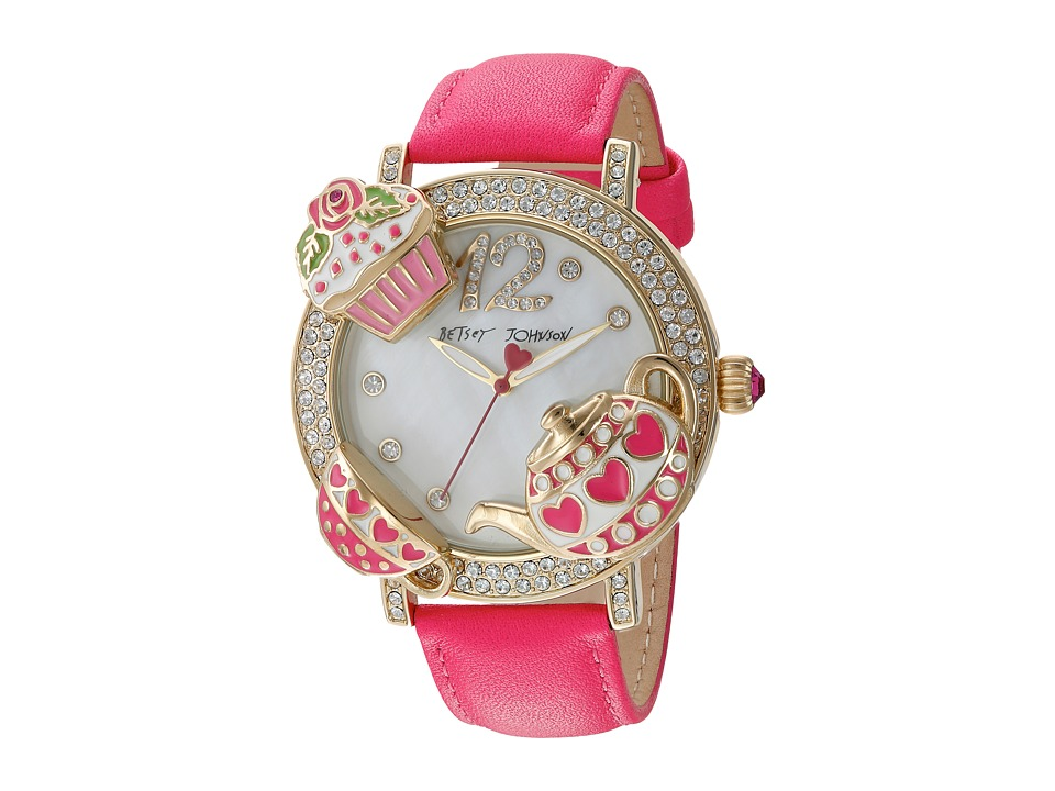 Betsey Johnson - BJ00614-02 - Tea Party Face (Gold) Watches