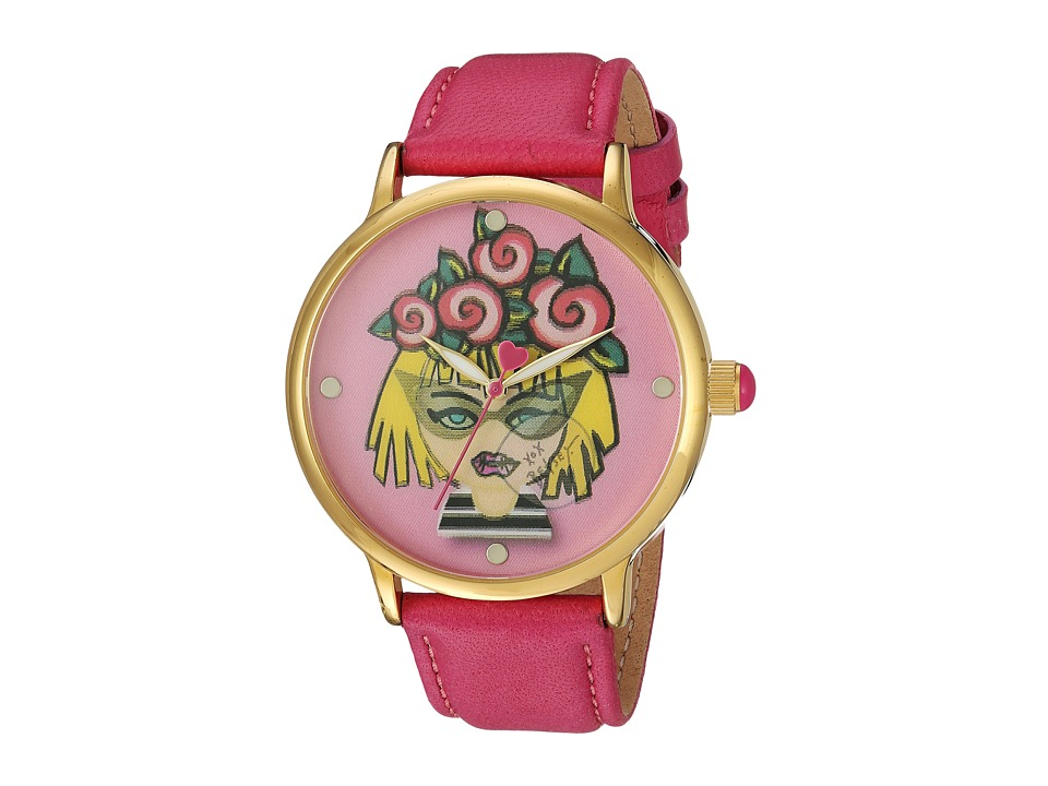 Betsey Johnson - BJ00496-53 - Emoji Face (Gold) Watches