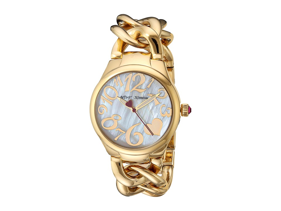 Betsey Johnson - BJ00297-12 - Gold Link (Gold) Watches