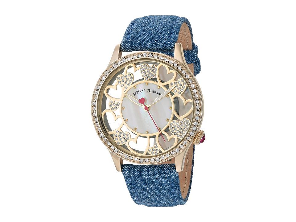 Betsey Johnson - BJ00331-09 - Open Cut Denim (Gold) Watches
