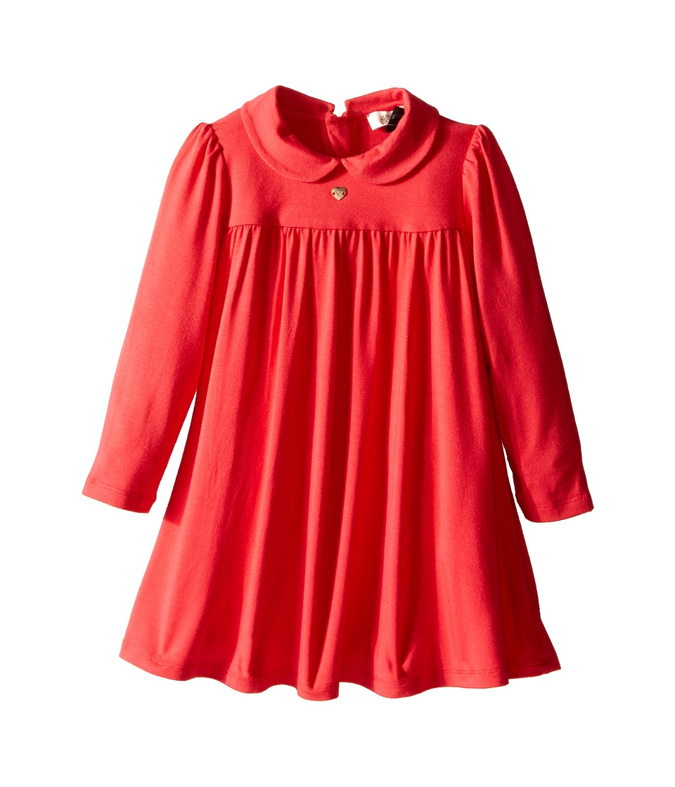 Armani Junior - Long Sleeve Jersey Dress (Infant) (Red) Girl's Dress
