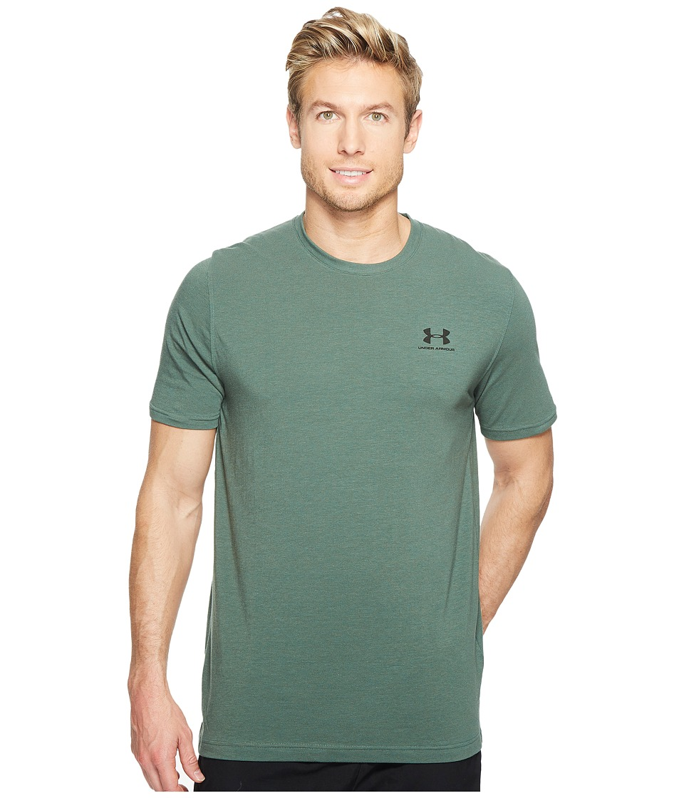Under Armour - Charged Cotton(r) Left Chest Lockup (Downtown Green) Men's T Shirt