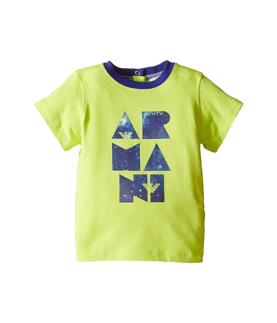 Armani Junior - Armani Logo Tee (Infant) (Lime) Boy's T Shirt