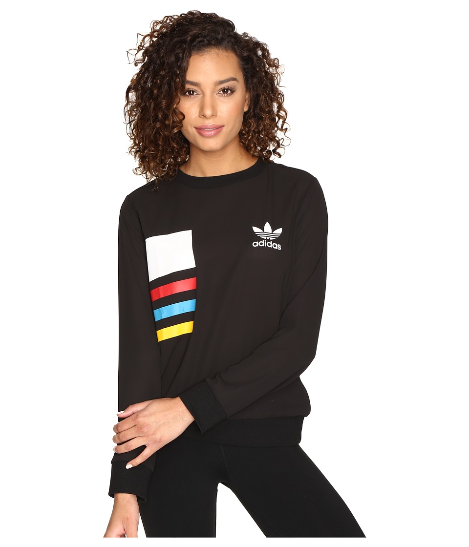 adidas Originals - Chiffon Crew (Black) Women's Clothing