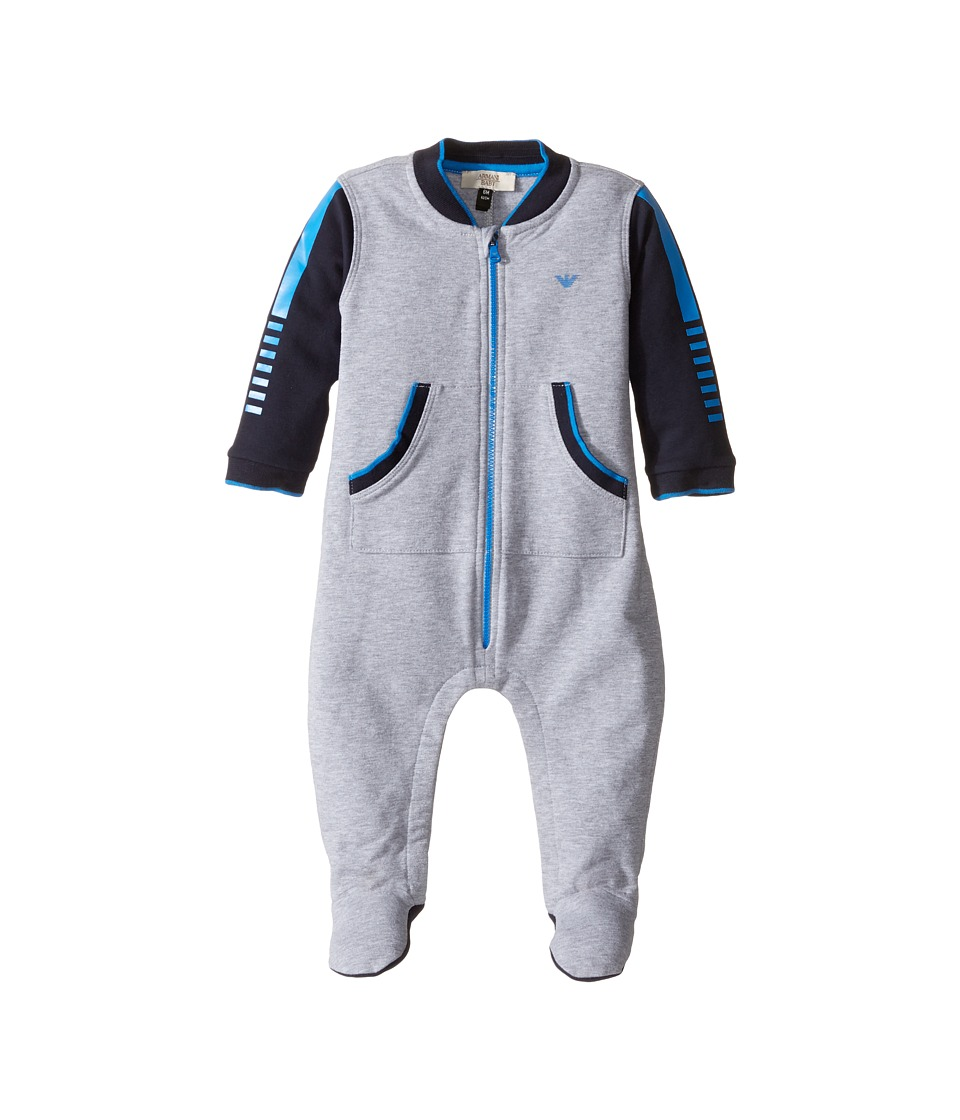 Armani Junior - Tracksuit One-Piece (Infant) (Grey) Boy's Jumpsuit & Rompers One Piece