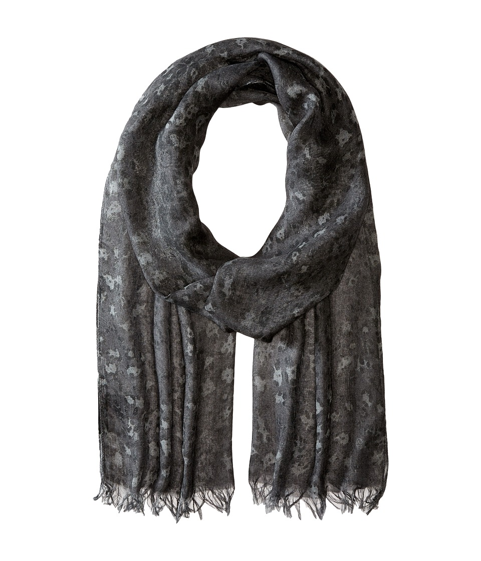 John Varvatos Star U.S.A. - Skull Leopard Print (Silver Heather) Scarves