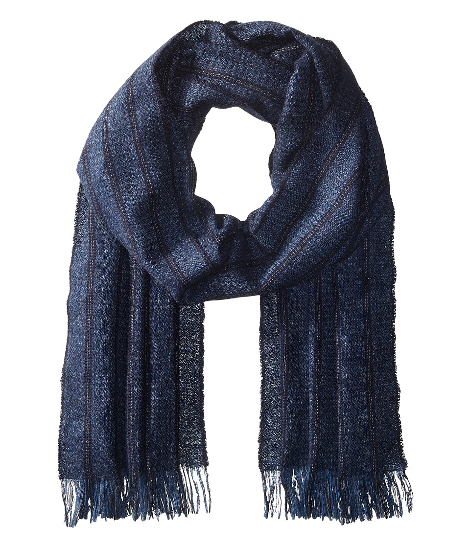 John Varvatos Star U.S.A. - Ticking Stripe (Marine) Scarves