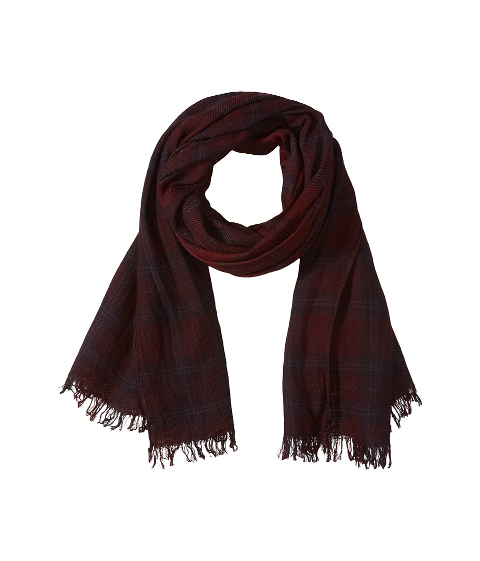 John Varvatos Star U.S.A. - Shirt Plaid Dip-Dye (Garnet/Port/Charcoal Heather) Scarves