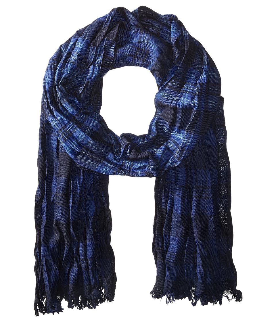 John Varvatos Star U.S.A. - Shirt Plaid Dip-Dye (Deep Blue/Eclipse/Capri) Scarves
