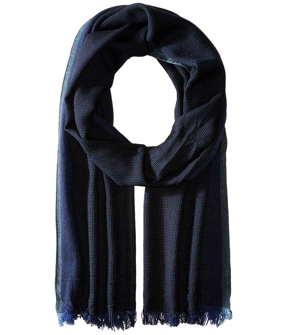 John Varvatos Star U.S.A. - End on End Scarf (Black/Capri/Pacific Blue) Scarves