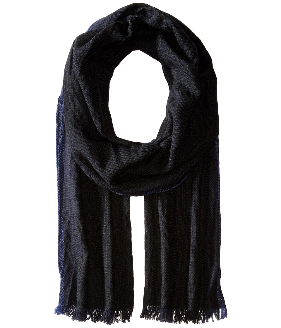 John Varvatos Star U.S.A. - End on End Scarf (Black/Deep Blue/Capri) Scarves