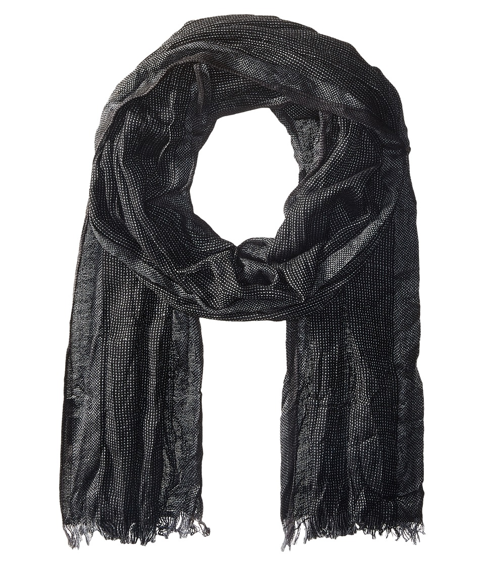 John Varvatos Star U.S.A. - End on End Scarf (Black/Silver Heather/Coal) Scarves