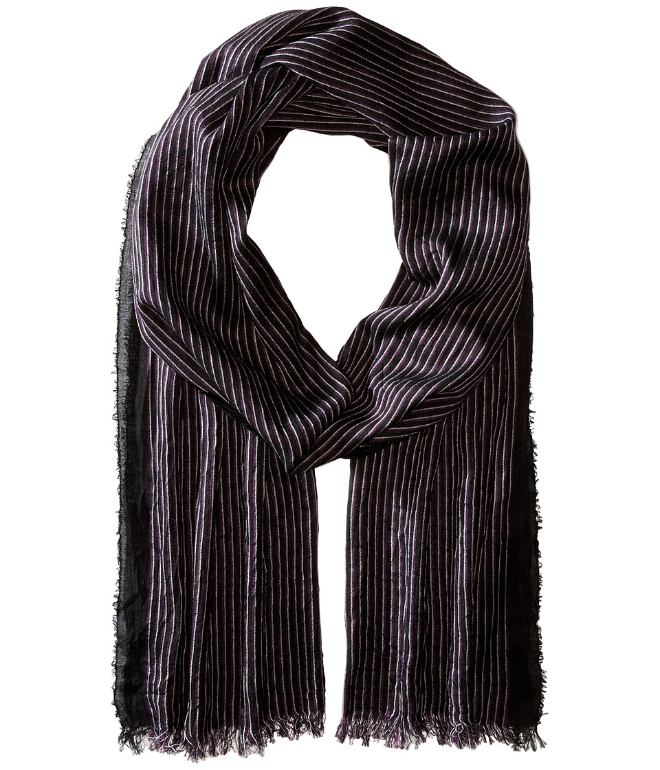 John Varvatos Star U.S.A. - Fine Stripe (Coal) Scarves
