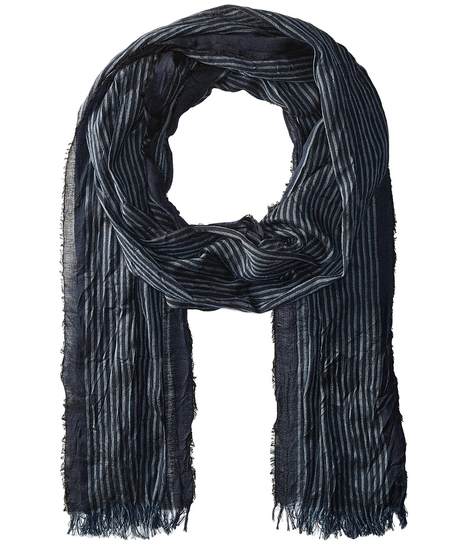 John Varvatos Star U.S.A. - Fine Stripe (Deep Blue) Scarves