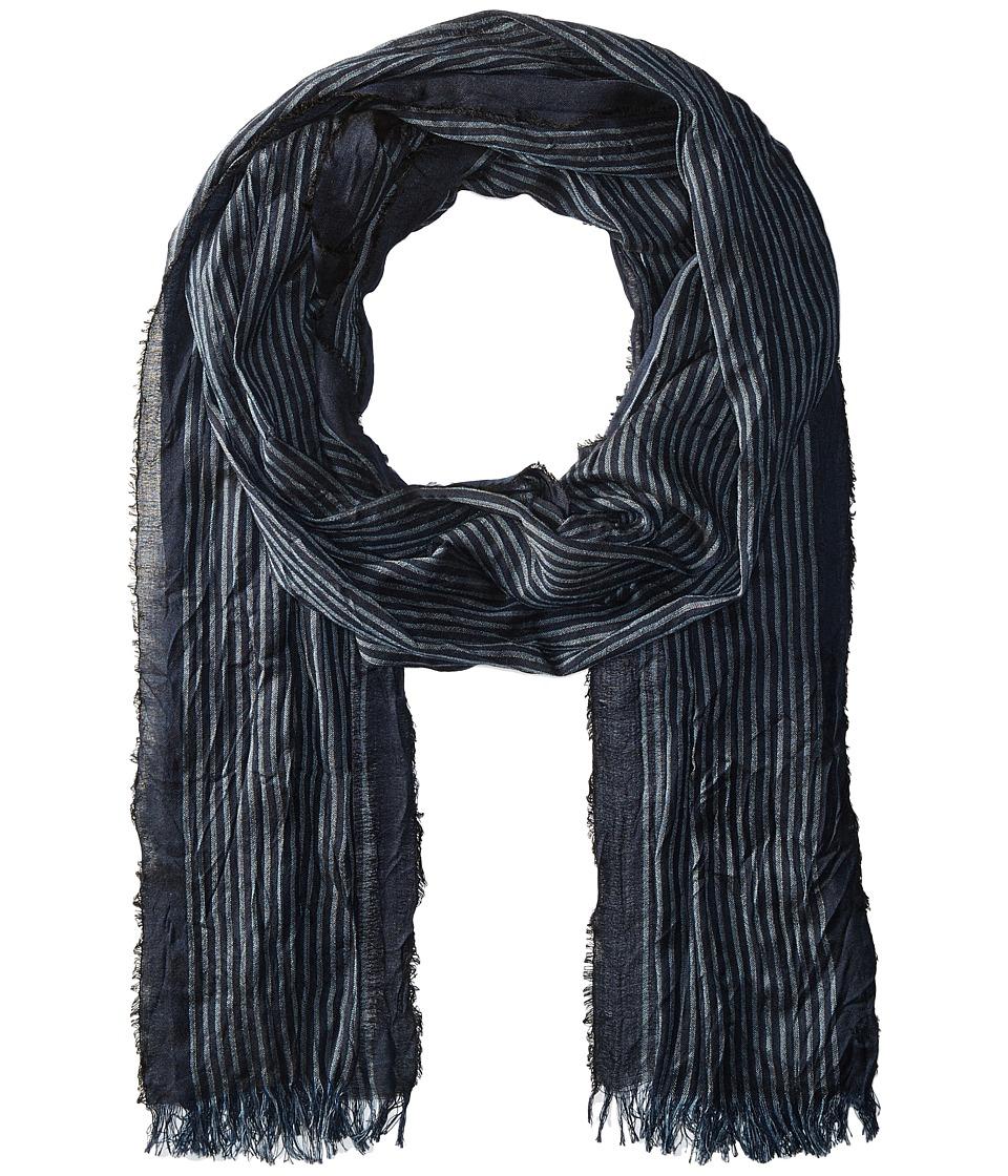 John Varvatos Star U.S.A. - Fine Stripe (Deep Blue) Scarves