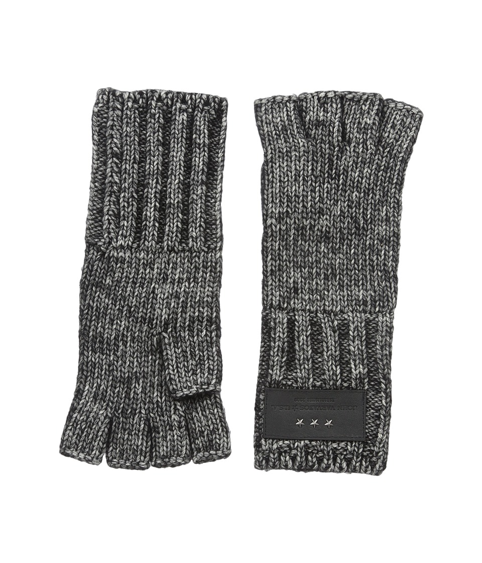 John Varvatos Star U.S.A. - Cappuccino Fingerless Gloves (Charcoal) Extreme Cold Weather Gloves