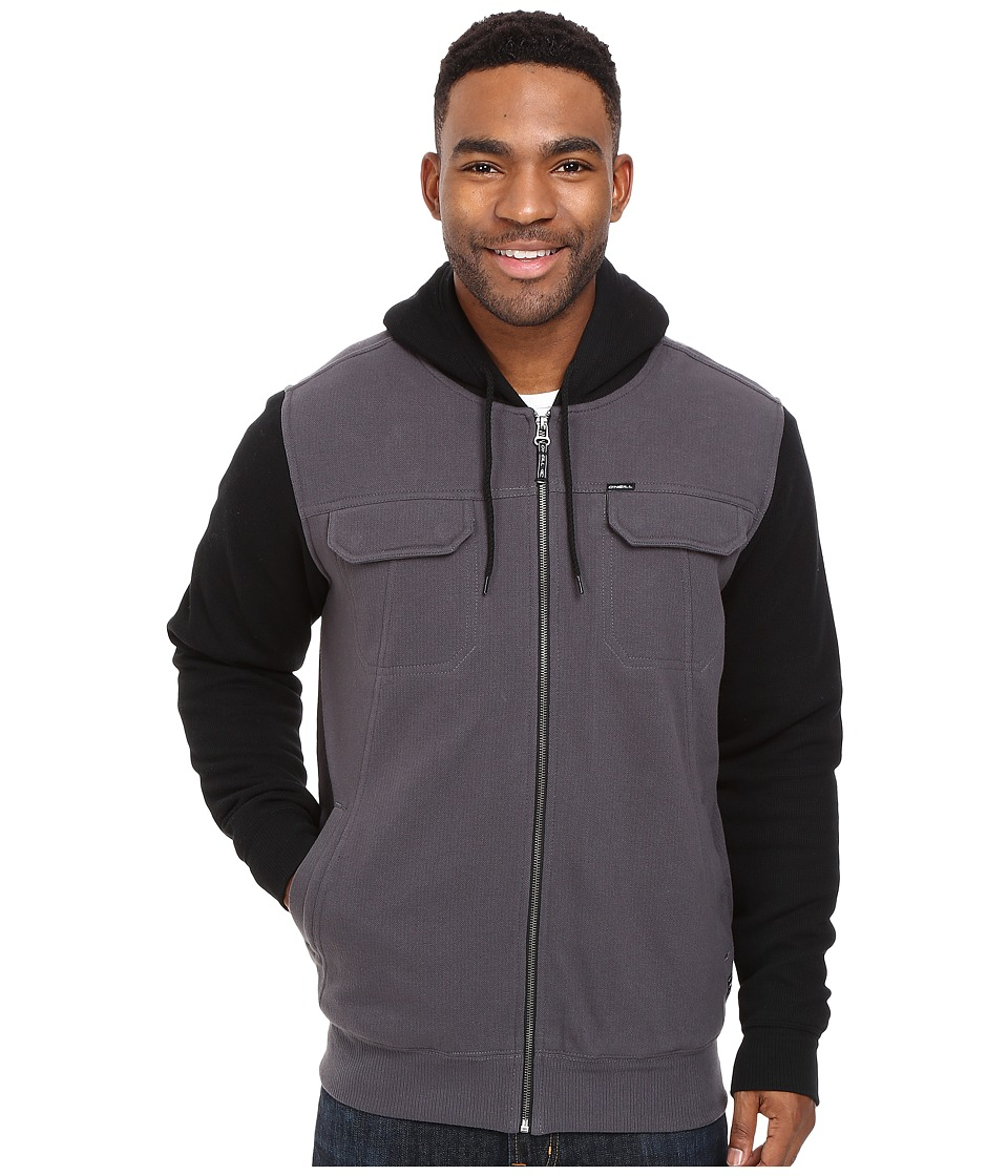 O'Neill - Shortrib Sherpa Hoodie (Black) Men's Sweatshirt