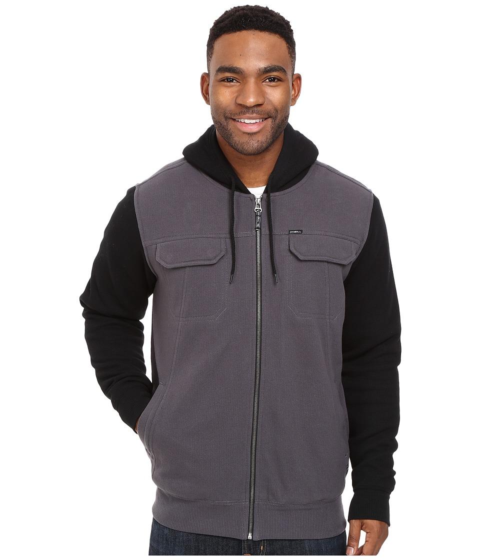 O'Neill - Shortrib Sherpa Hoodie (Black) Men's Sweatshirt