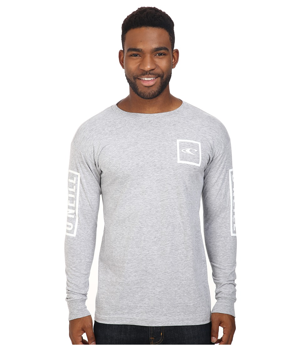 O'Neill - Tecker Long Sleeve Top (Medium Heather Grey) Men's Clothing