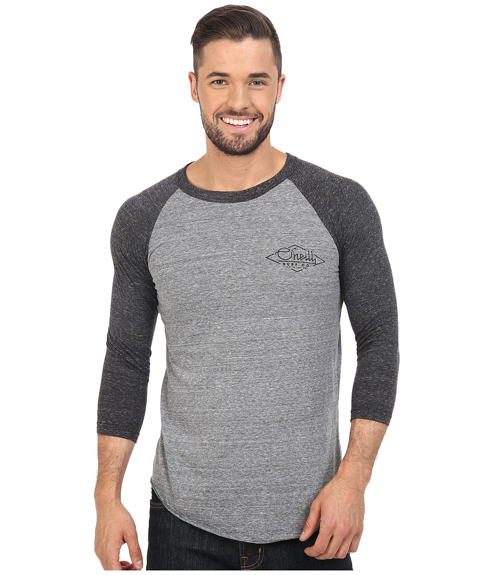 O'Neill - Flyer Raglan Top (Grey/Black) Men's Clothing