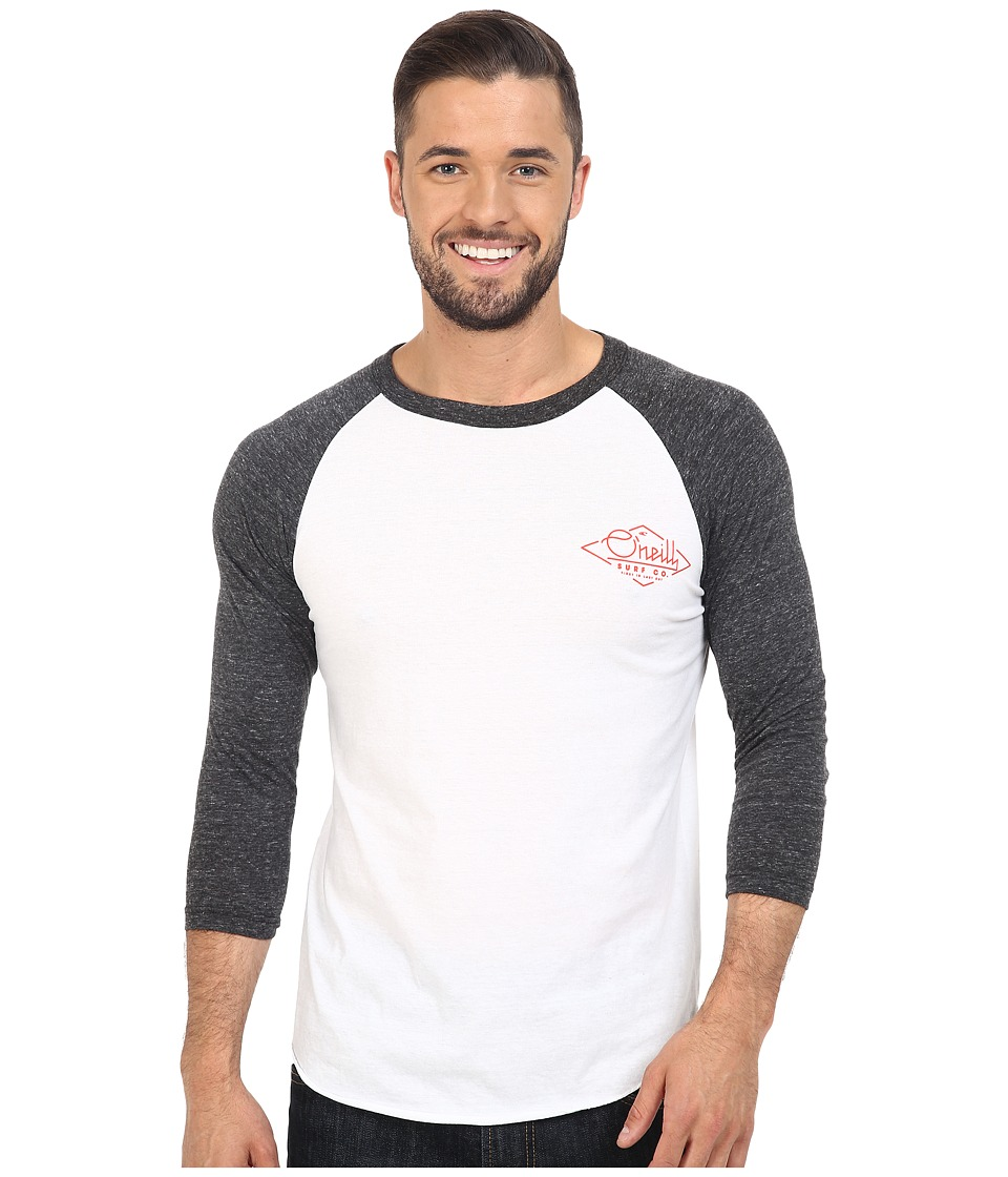 O'Neill - Flyer Raglan Top (White/Black) Men's Clothing