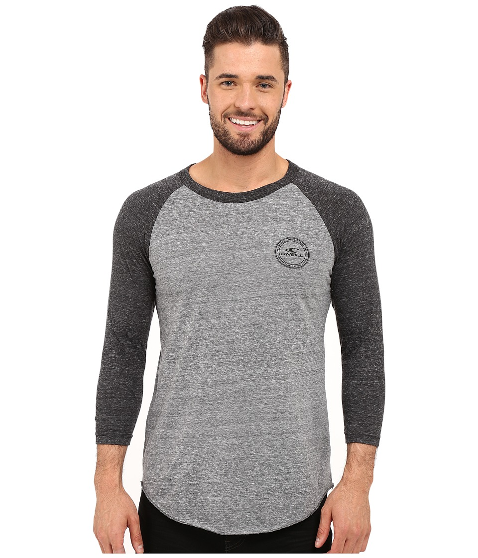 O'Neill - Posted Raglan Top (Grey/Black) Men's Clothing