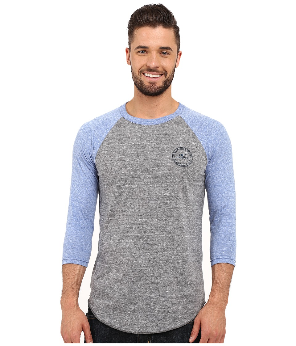 O'Neill - Posted Raglan Top (Grey/Blue) Men's Clothing