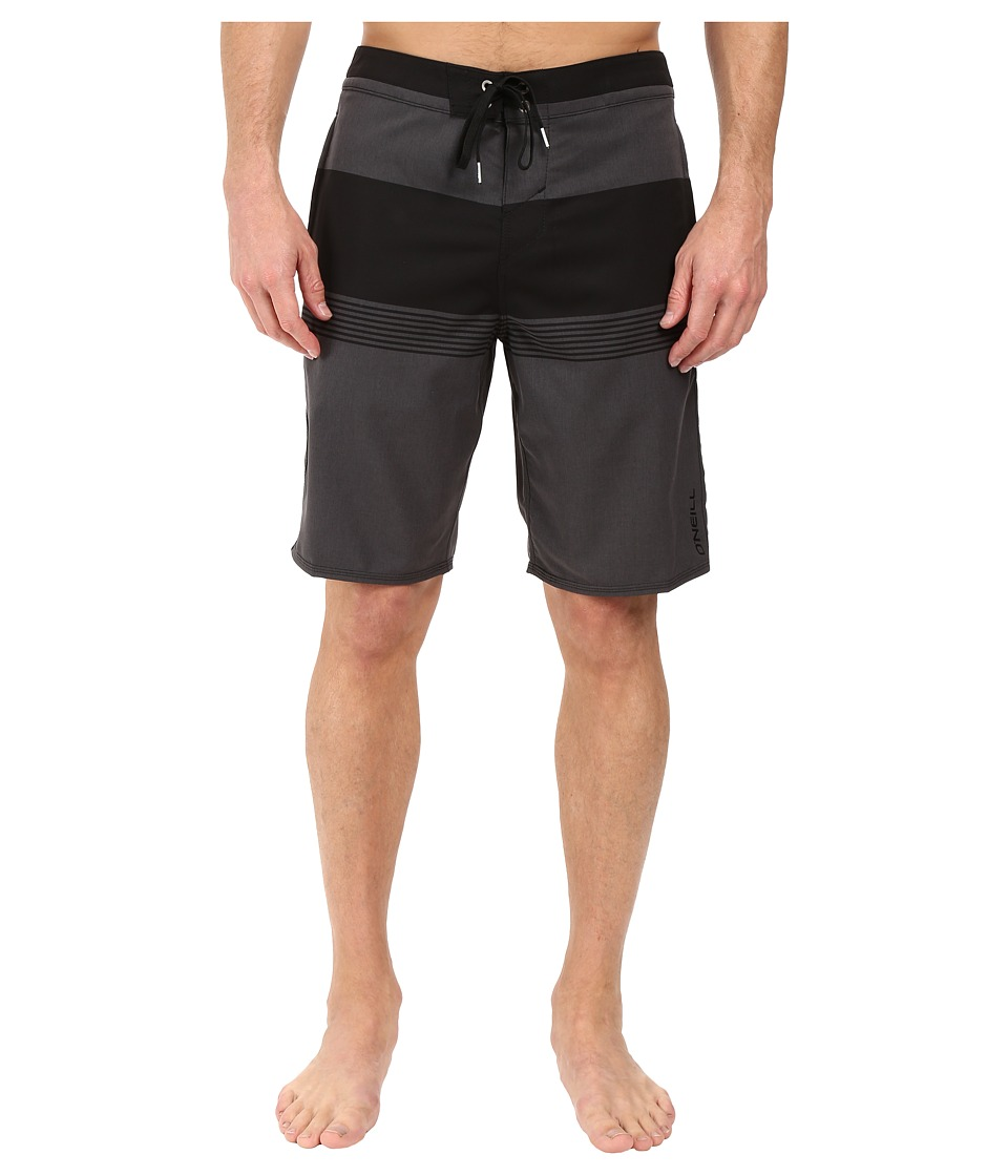O'Neill - Hyperfreak Horizon Boardshorts (Black) Men's Swimwear