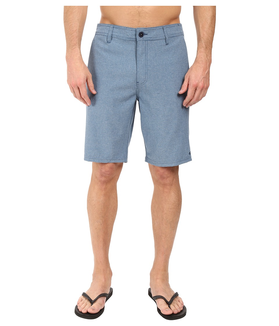 O'Neill - Locked Stripe Hybrid Boardshorts (Blue) Men's Swimwear