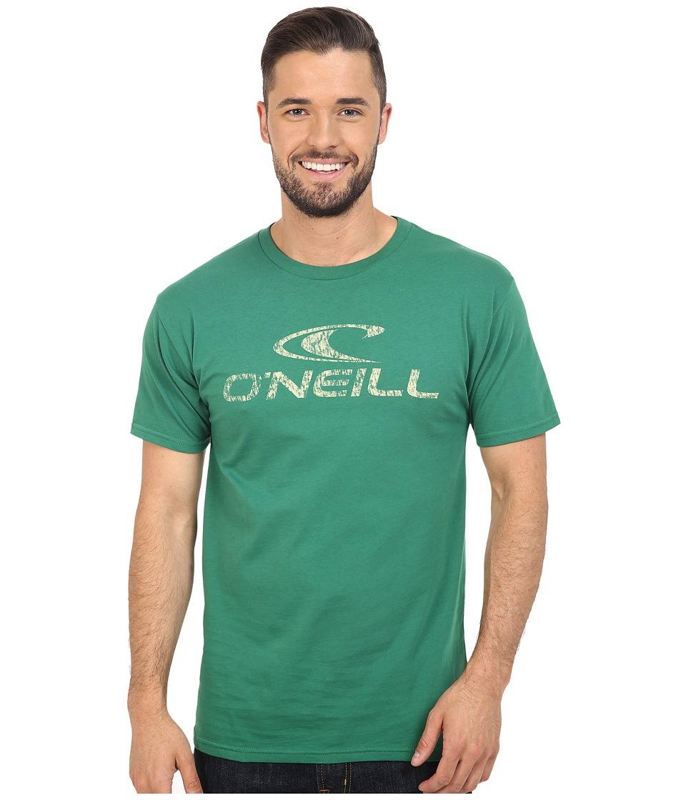 O'Neill - Supreme Short Sleeve Screen Tee (Green) Men's Short Sleeve Pullover