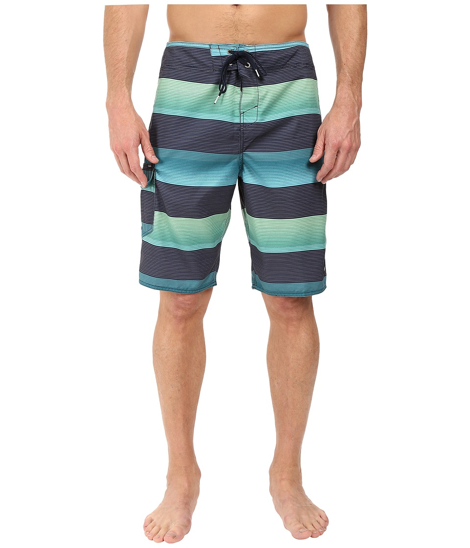 O'Neill - Santa Cruz Stripe Boardshorts (Aqua) Men's Swimwear
