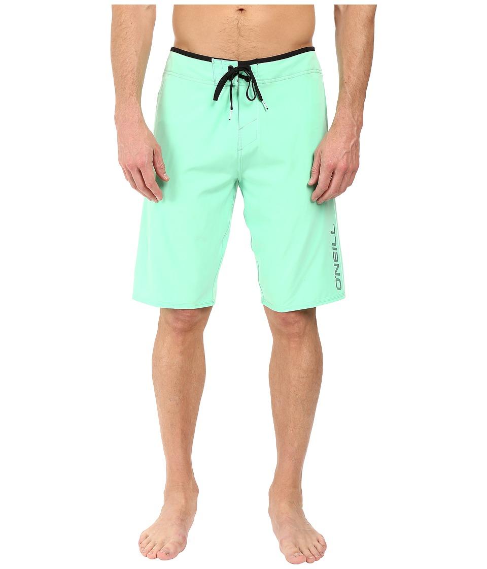 O'Neill - Hyperfreak Solid Boardshorts (Mint) Men's Swimwear