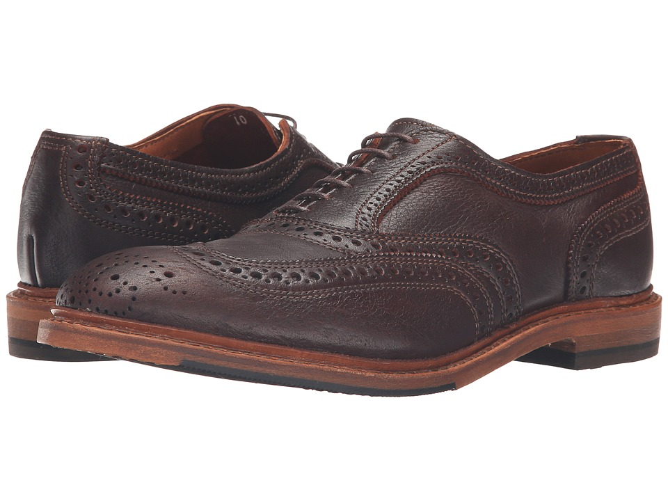 Allen Edmonds - Neumok 2.0 (Brown Leather) Men's Lace Up Wing Tip Shoes