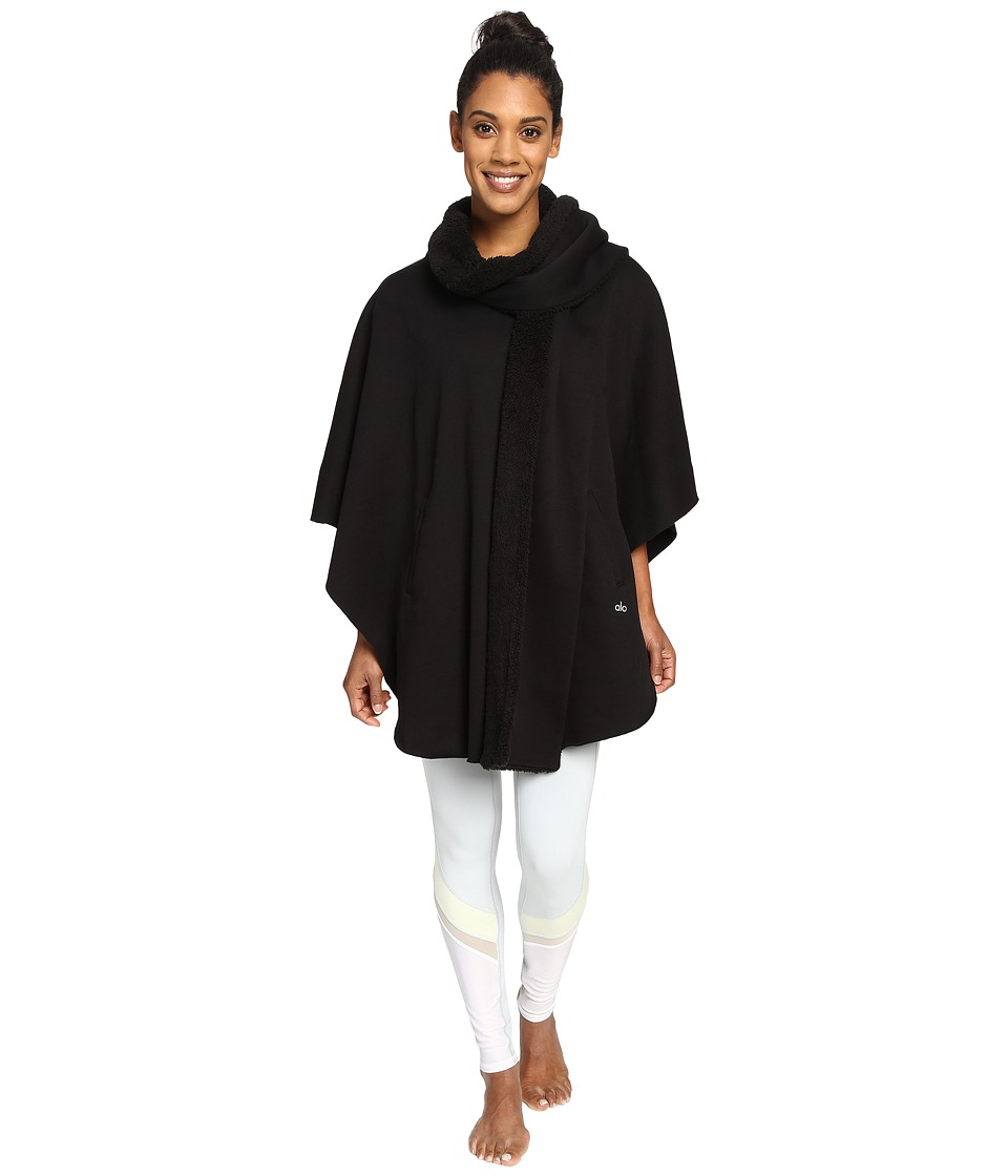 ALO - Wrap Poncho (Black) Women's Coat