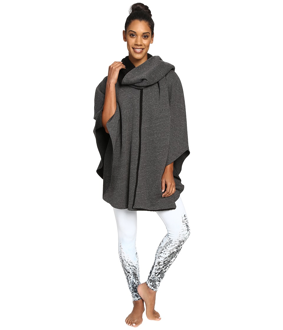 ALO - Wrap Poncho (Charcoal Heather) Women's Coat