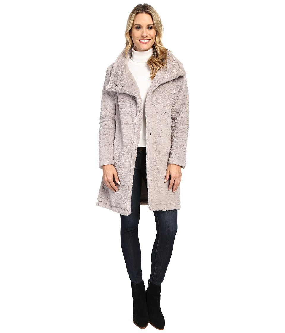 Dylan by True Grit - Plush Faux Heather Fur Long Snap Jacket (Vintage Heather) Women's Coat