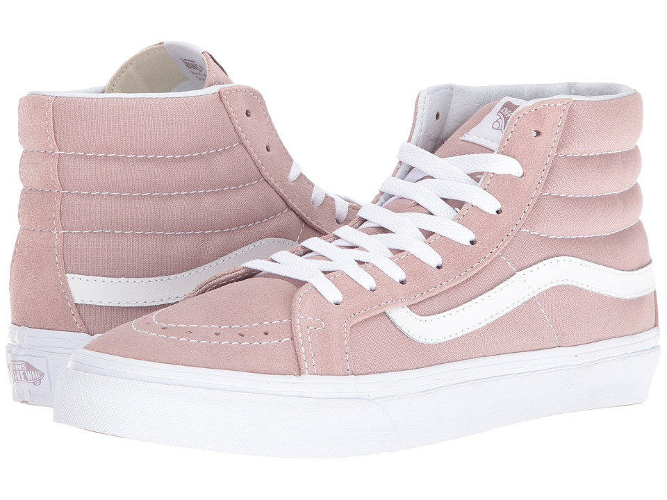Vans - SK8-Hi Slim ((Suede/Canvas) Fawn/True White) Skate Shoes