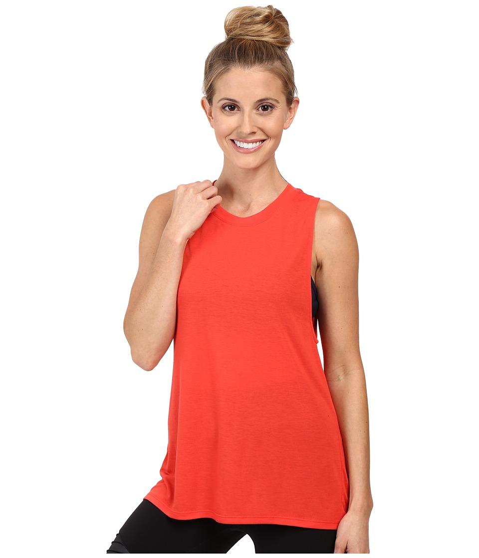 ALO - High Low Muscle Tank Top (Poppy) Women's Sleeveless