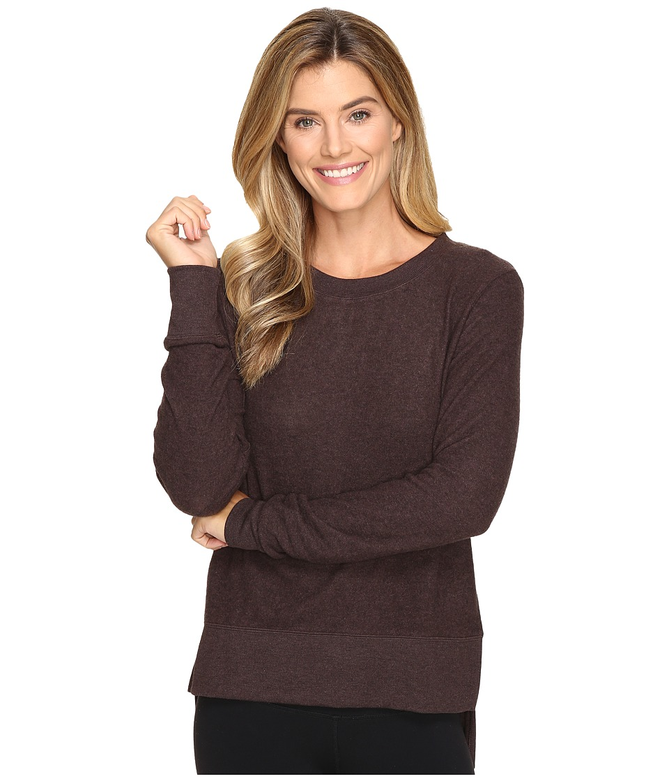 ALO - Glimpse Long Sleeve Top (Mink Heather) Women's Clothing