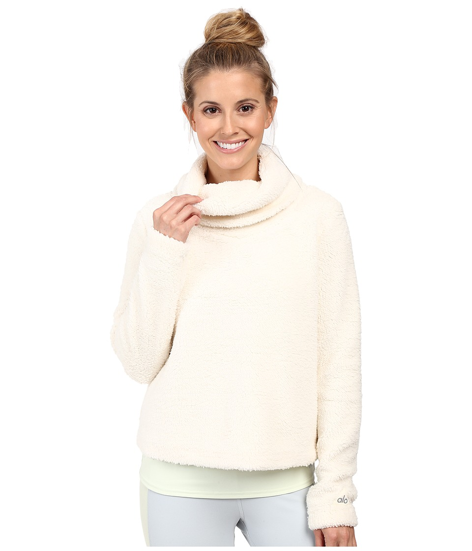 ALO - Asker Sherpa Crew (Natural) Women's Sweater