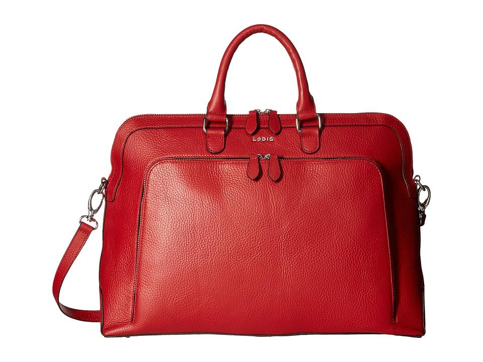 Lodis Accessories - Haven Brera Briefcase w/ Laptop Pocket (Red) Briefcase Bags